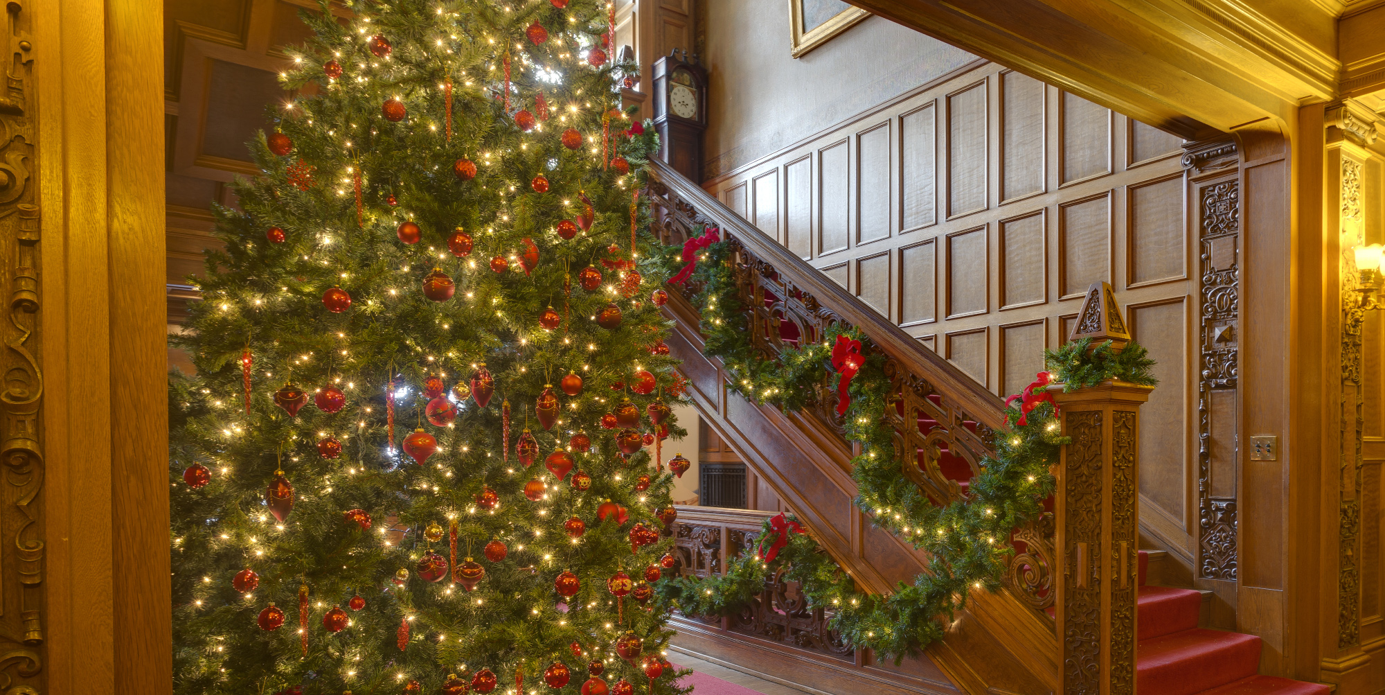 Full Mansion Tour Christmas - beach house rentals for weddings