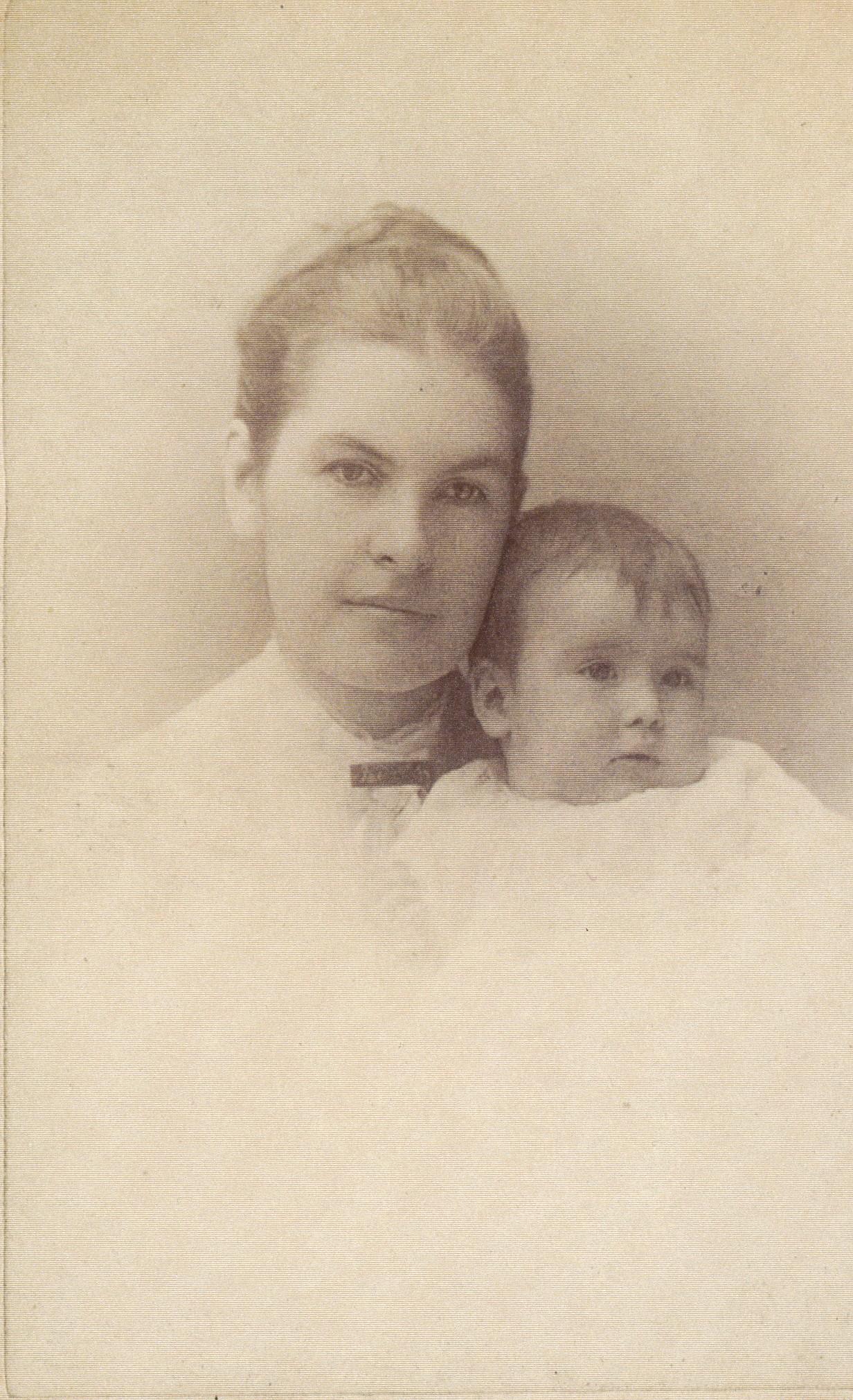 Clara with newborn Marjorie.