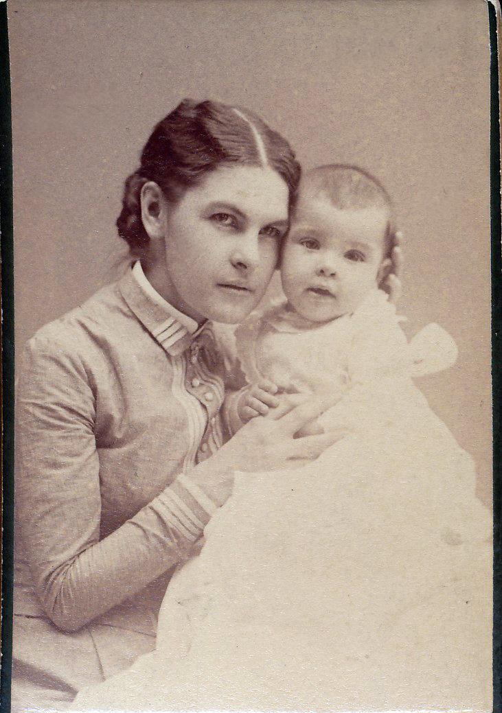 Clara Bannister with newborn Ned.