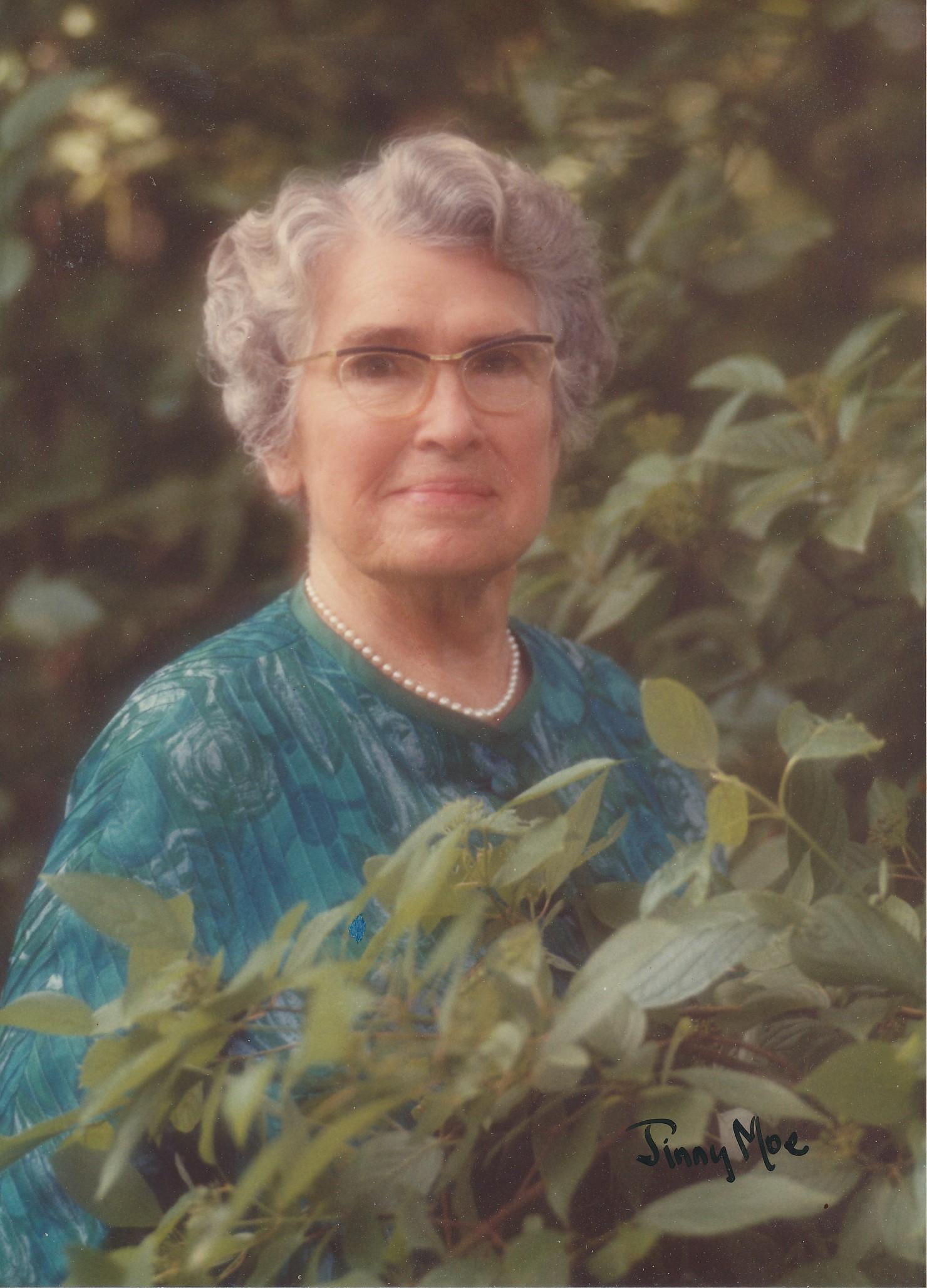 Marjorie in 1965 looking stunning in a blue print top.