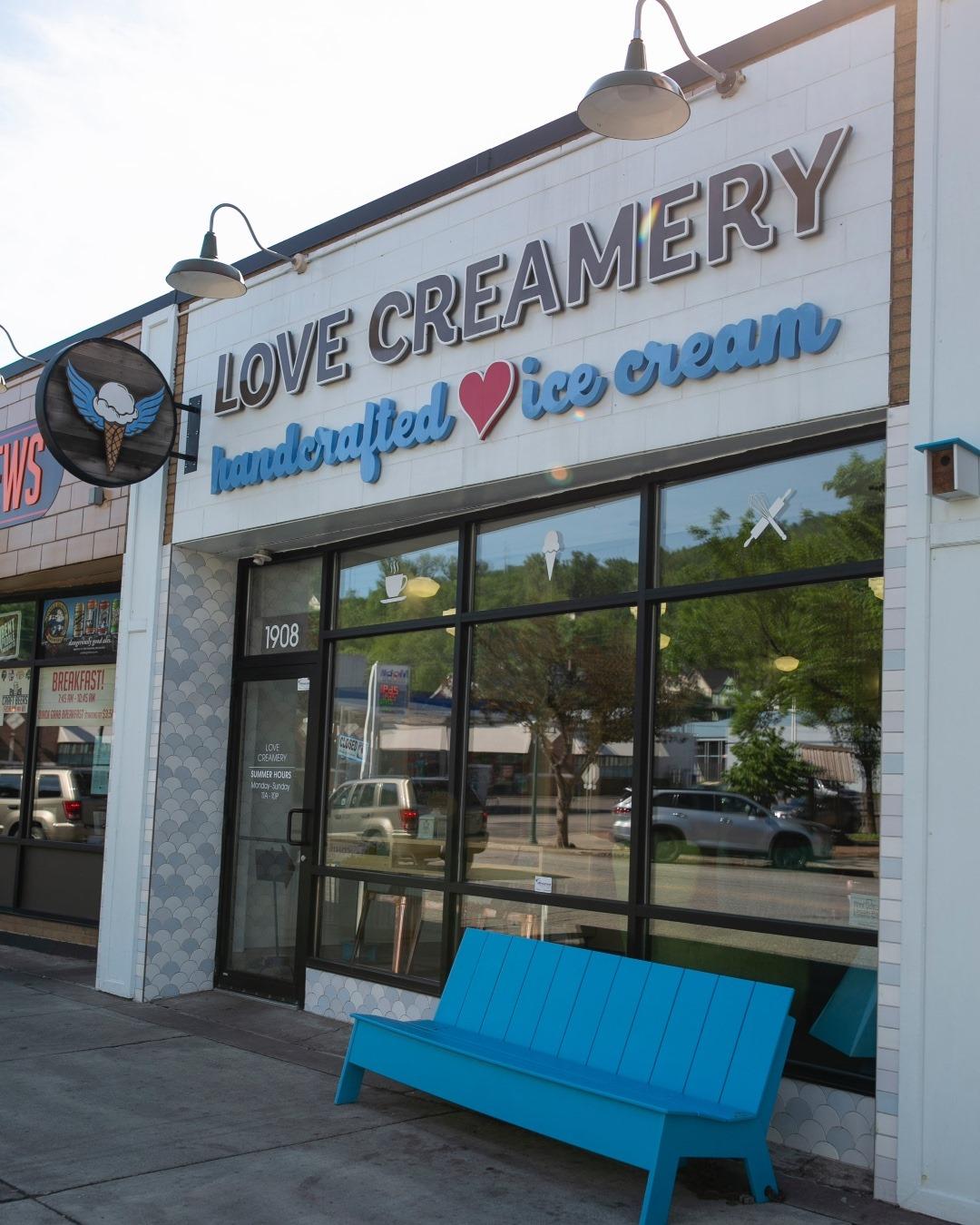 Love Creamery storefront.
