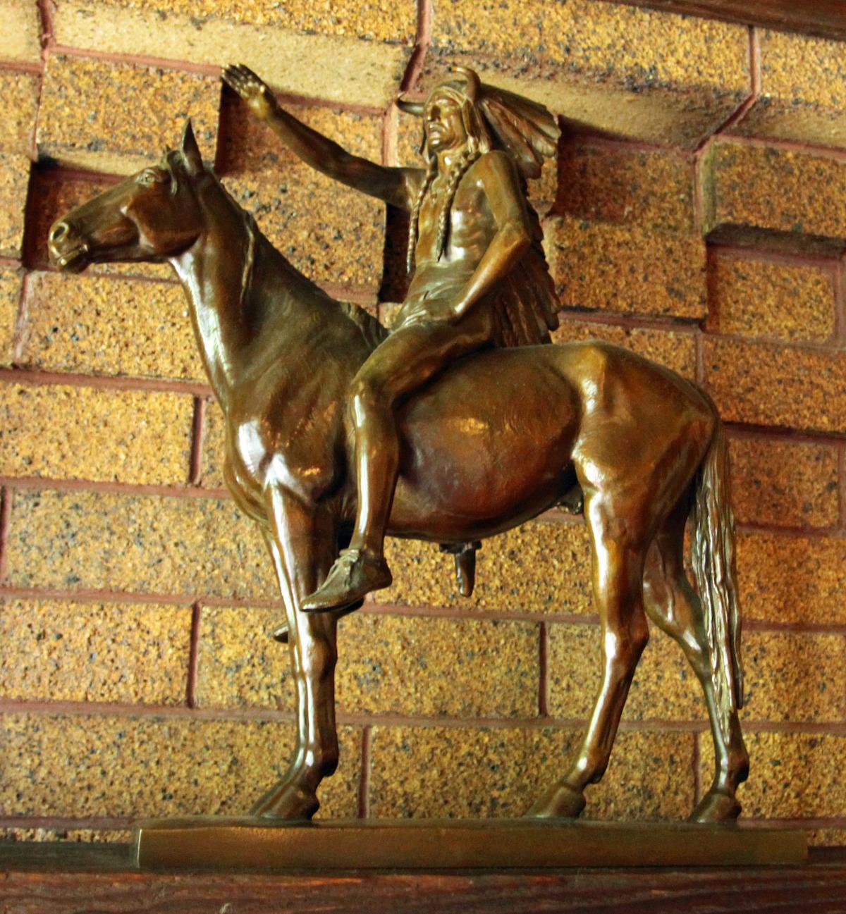 Native American Medicine Man statue.